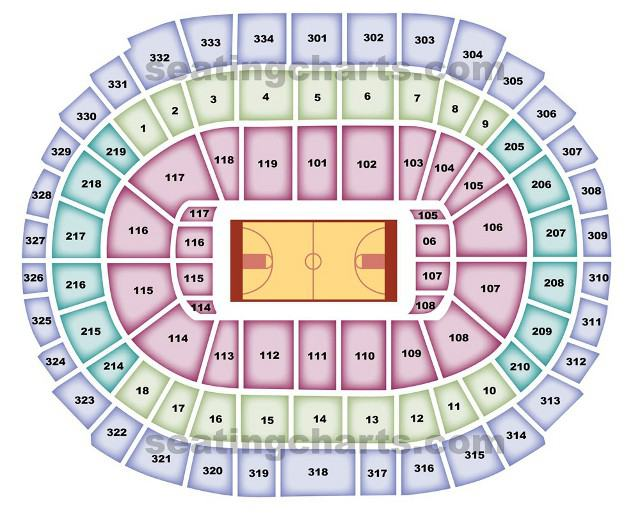 Los Angeles Lakers Seating Chart for STAPLES Center